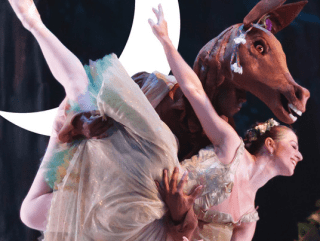 Ballet Austin presents A Midsummer night's dream dancer with Bottom