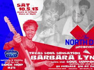 Barbara Lynn at the north door flyer