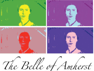 poster for Belle of Amherst with Emily Dickinson portraits