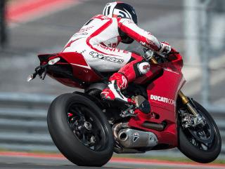 Ben Spies races the MotoGP track