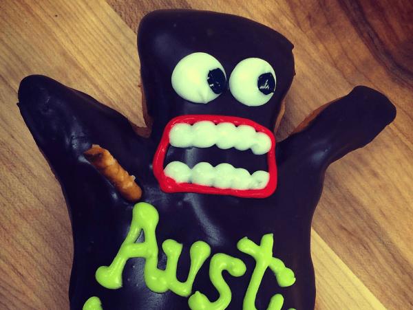 Voodoo Douhnut Austin doll donut 2015