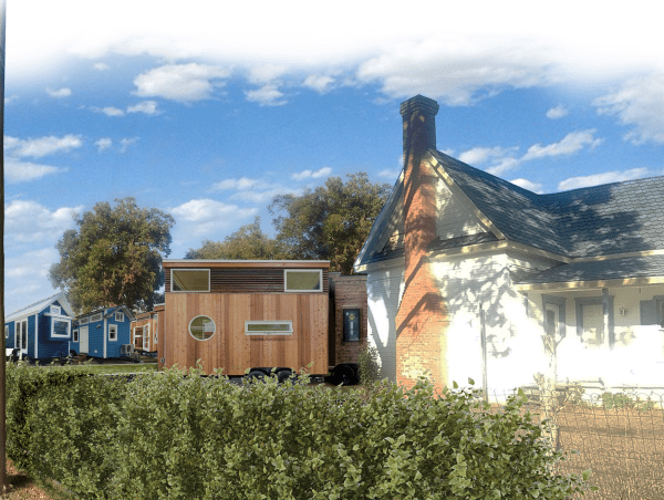 Lake Dallas tiny home village rendering