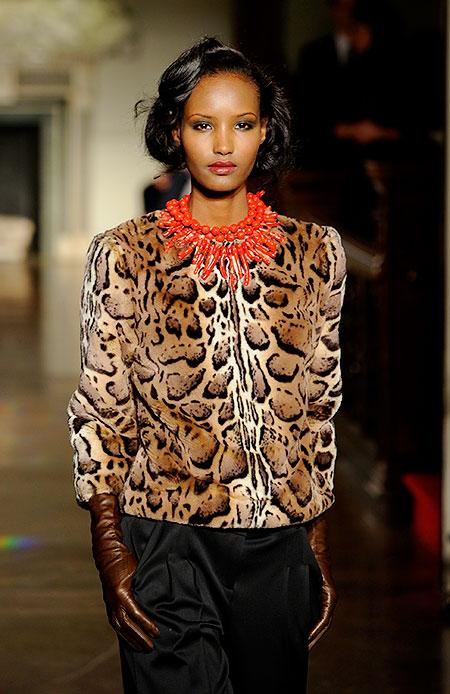 Фатима Сиад на Неделе моды в Нью-Йорке
