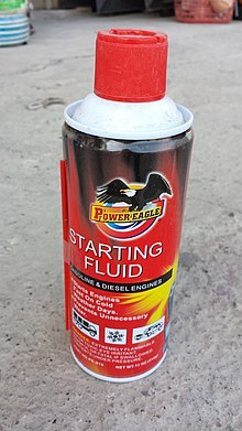 Where to spray starter fluid on fuel injected car