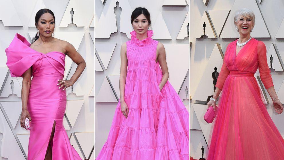 Hot pink dress red carpet