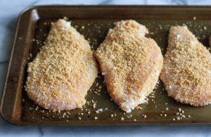 Куриная грудка в панировочных сухарях в духовке рецепт