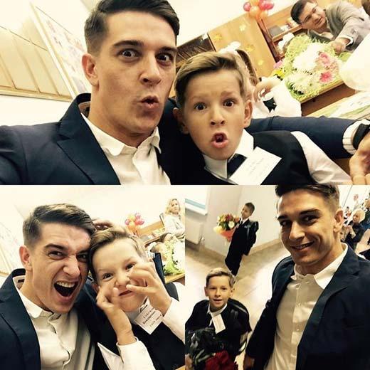 Бондаренко с сыном Марком