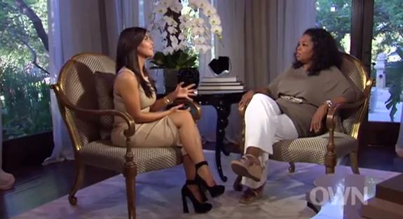 Kim kardashian shoes on oprah