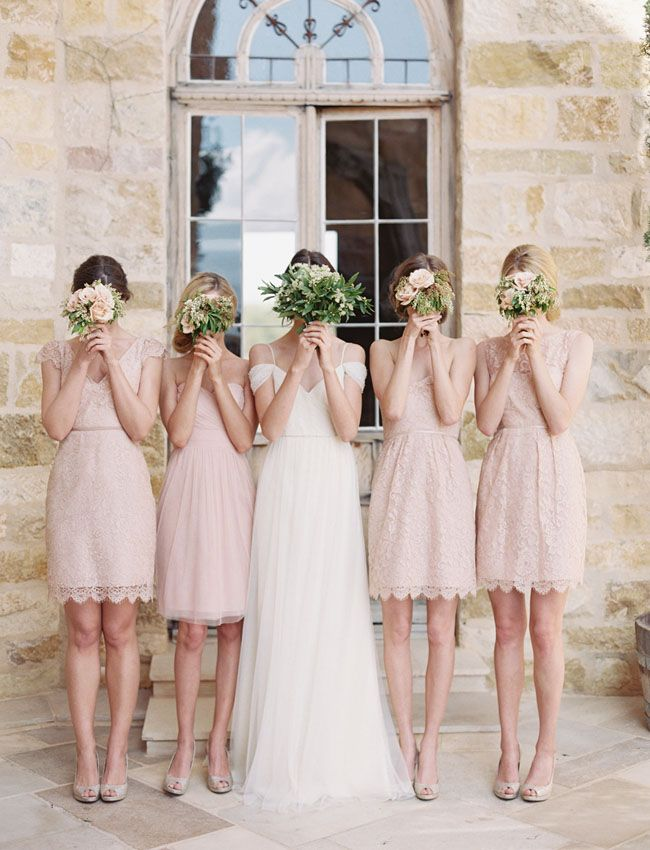 Pale pink bridesmaid dresses pinterest