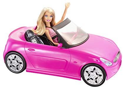 Barbie pink convertible car