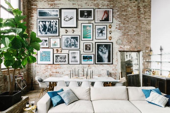 фотографии в интерьере в стиле лофт