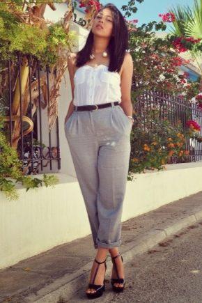 серые женские брюки фото