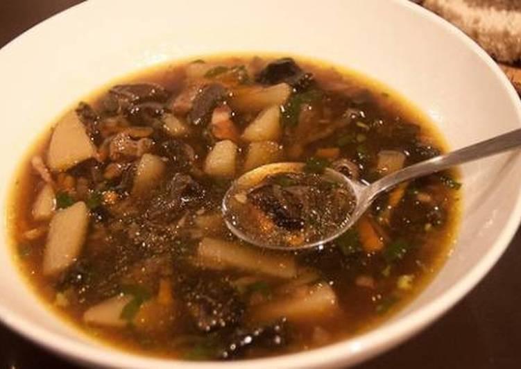 Как варить суп из лесных грибов