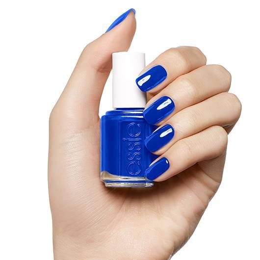 Essie blue nails
