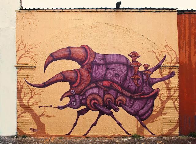 Sego Ovbal - Proteo el protector - Mural de escarabajo