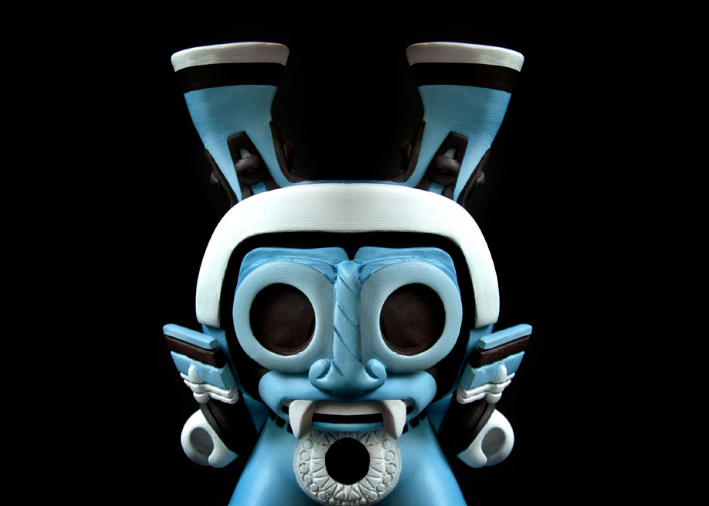 Erick Morales Dr. Morbito - figura de cerámica con forma de un demonio en tonos azules