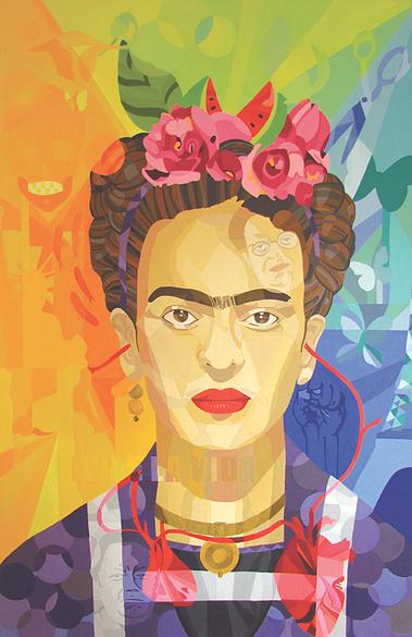 Lourdes Villagómez - retrato de Frida Khalo