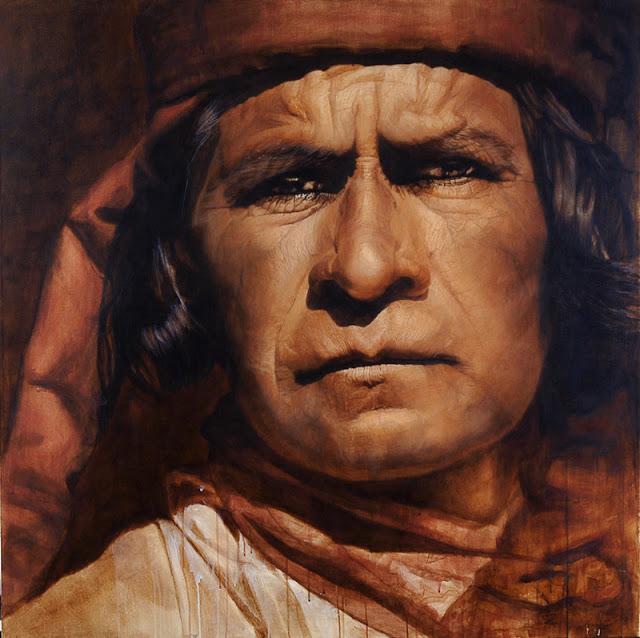 Patricia Guzmán - retrato hiperrealista de un indígena
