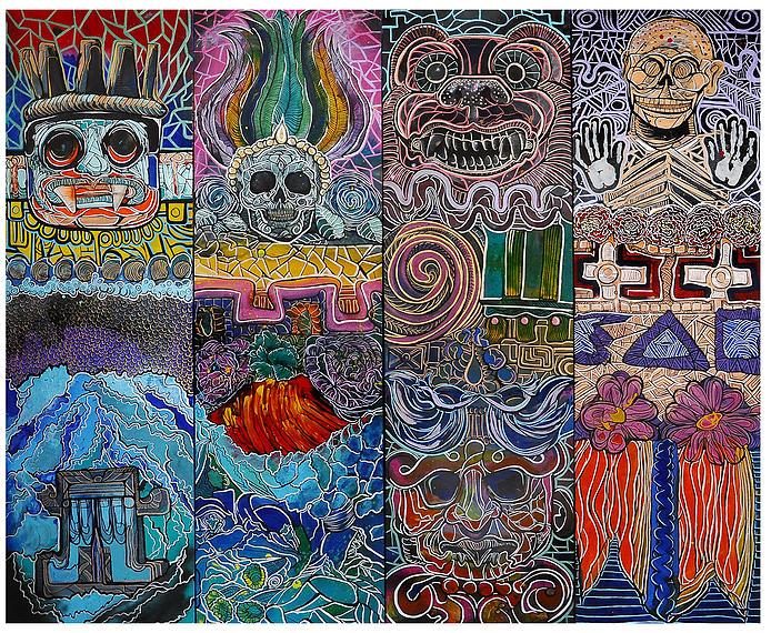 "Lilian Muñoz ""Demencia Beivide"" - ilustración diferente deidades"