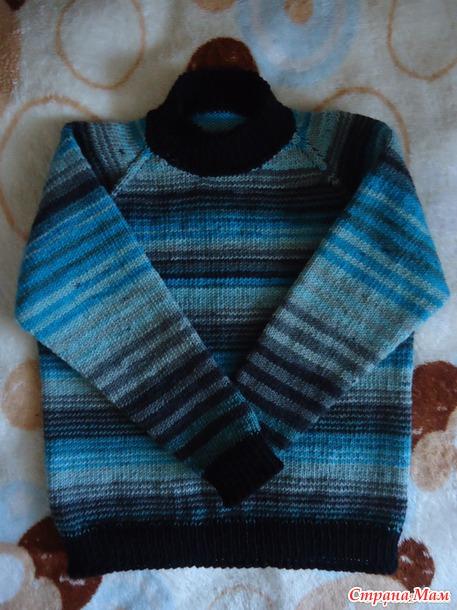 Как вязать женский свитер спицами реглан сверху