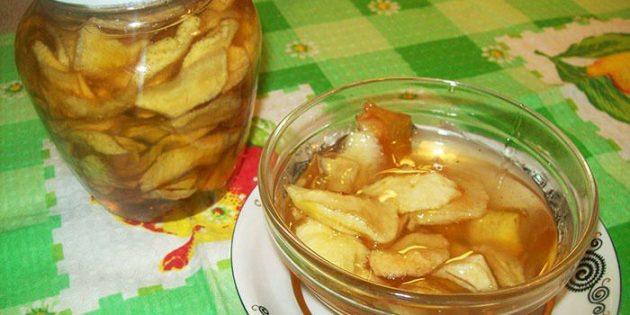 Как варить яблоки целиком