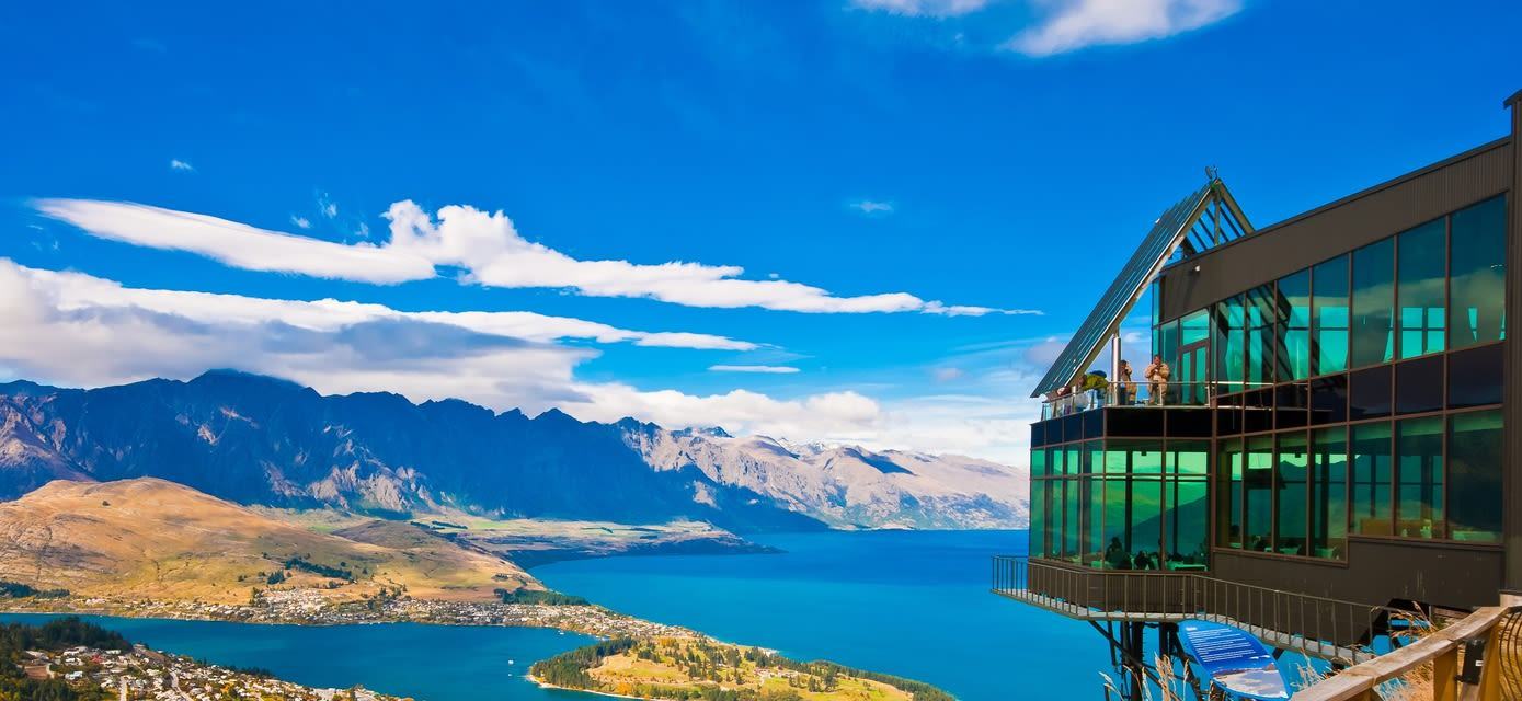 View from the top, Lake Wakatipu & Queenstown
