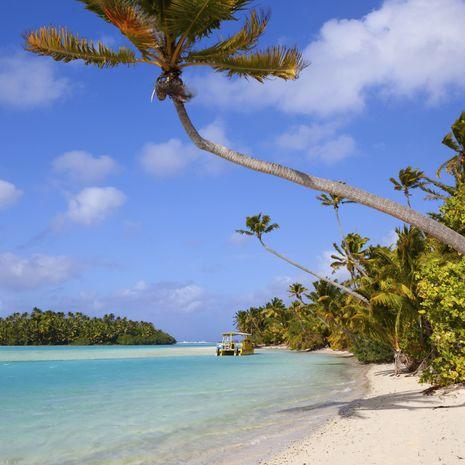 Beach, Aitutaki, Cook Islands