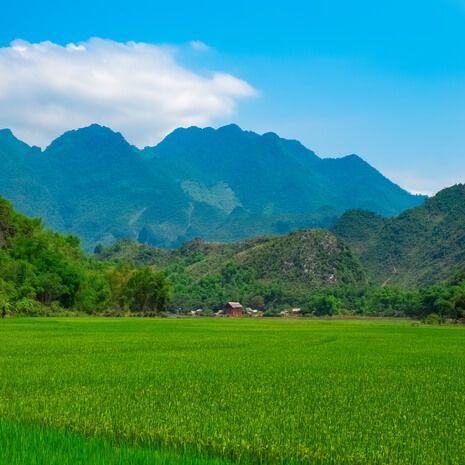 Mountains in Mai Chau Valley, Vietnam