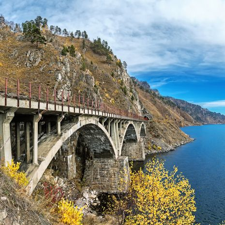 Bridge on the Trans-SIberian railway, Lake Baikal