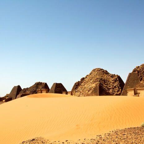 Ancient pyramids of Meroe