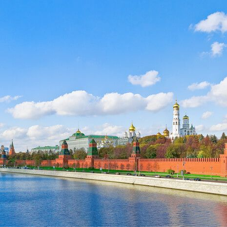 The Kremlin from Moskvoretsky Bridge, Moscow