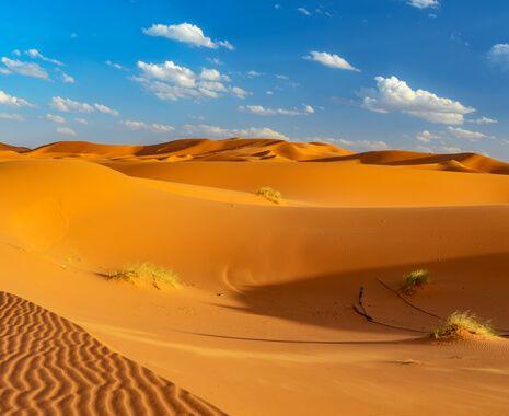Sand dunes in Erfoud, Morocco