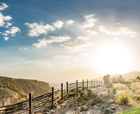 Sunset over Al Hajar Mountains, Oman