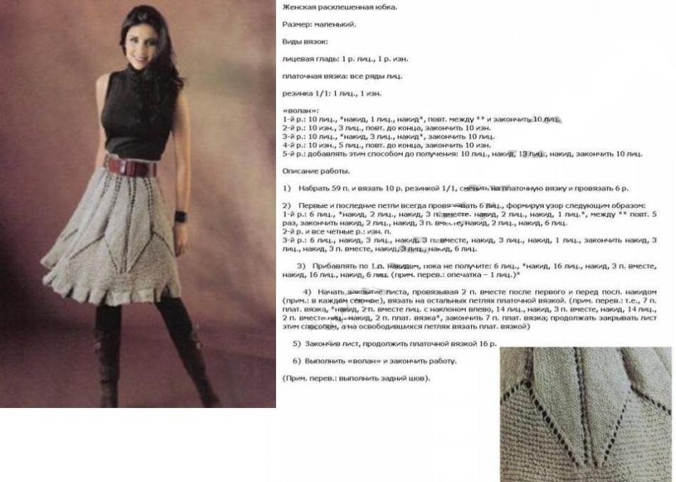 Связать юбку спицами для женщины новые модели с описанием