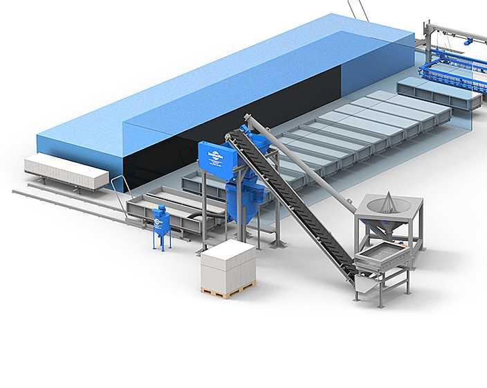 Оборудование для производства газобетонных блоков цена