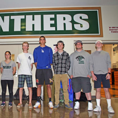 Nine of the 11 future collegiate athletes.