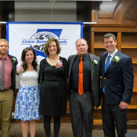 Four Croton-Harmon teachers and two school psychologists earned tenure and were recognized during a special ceremony on May 17.