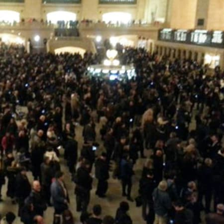 Crowds fill Grand Central after a suicide in the Bronx caused train delays Monday night along the Metro-North rails.