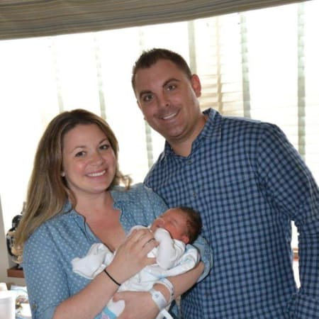 Kate and John Procaccini with baby Mila Joy