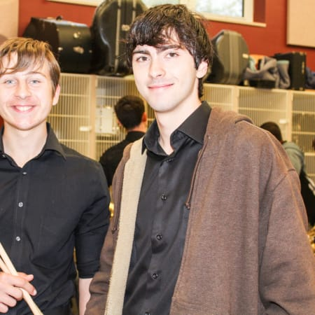 Two members of the Sleepy Hollow High School Jazz Band who performed at the NYSSMA Major Ensemble festival held at Fox Lane High School.