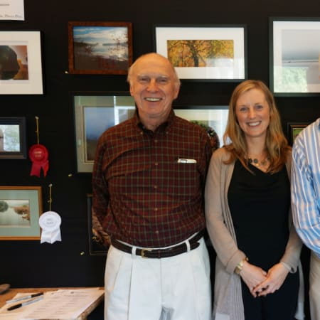 The NSOLF held a reception for the artists featured in their photo exhibition at the Ruth Keeler Memorial Library.