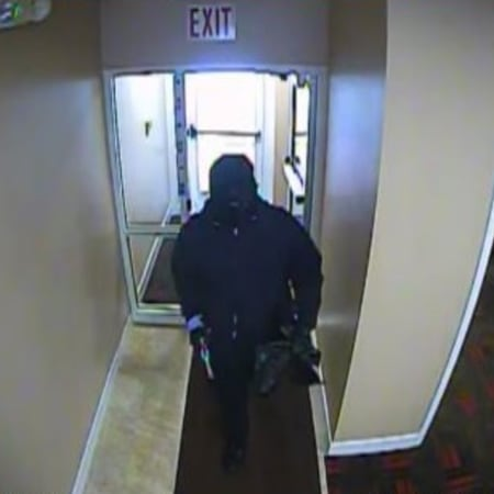 An image of the Pound Ridge KeyBank branch robbery suspect.