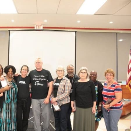 Retired teachers and other employees were honored recently for their years of service at ceremonies hosted by the Peekskill Board of Education.