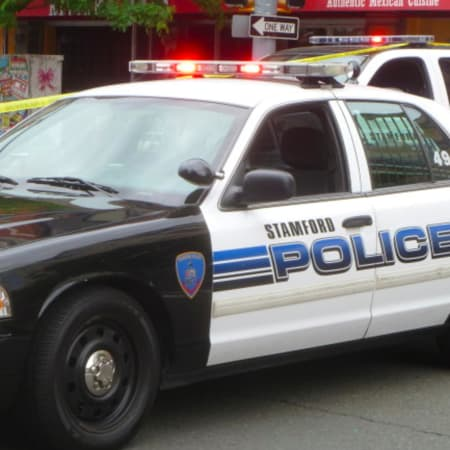 Stamford Police are searching for a man who robbed a delivery food driver at gun point.