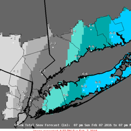A look at projected snow totals as a result of the storm.