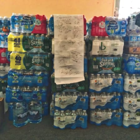 Cases of water have become essential at New Rochelle schools.