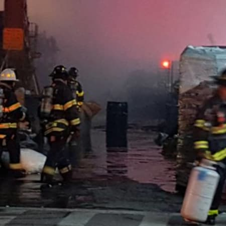 Service into and out of Grand Central is suspended as a result of smoke conditions caused by a tractor-trailer fire under the tracks at East 119th Street and Park Avenue, the MTA said.