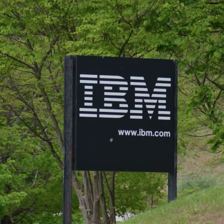 An entrance sign for IBM's Somers campus