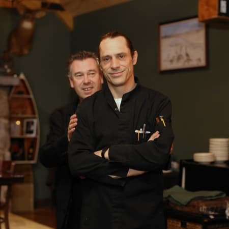 Eric Monte, left, and Executive Chef Regis Saget of Tavern 489 in Stamford.