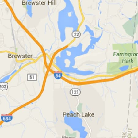 Two people were injured in a Sunday accident involving two tractor-trailers and two cars on I-684 outside Brewster, according to lohud.com.